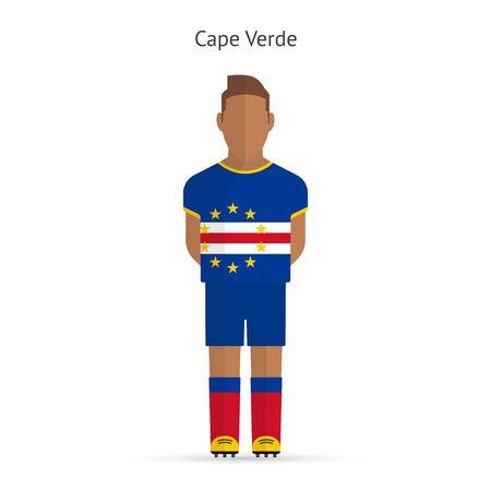 Cape Verde football player. Soccer uniform. Vector illustration. Illustration