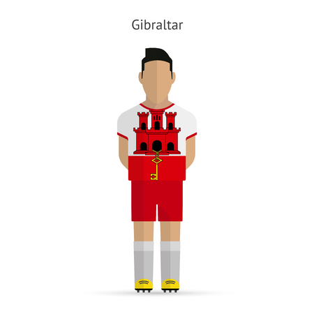 Gibraltar football player. Soccer uniform. Vector illustration. Vector