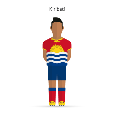 Kiribati football player. Soccer uniform. illustration. Vector