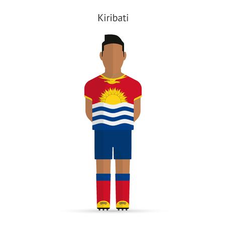 kiribati: Kiribati football player. Soccer uniform. illustration. Illustration
