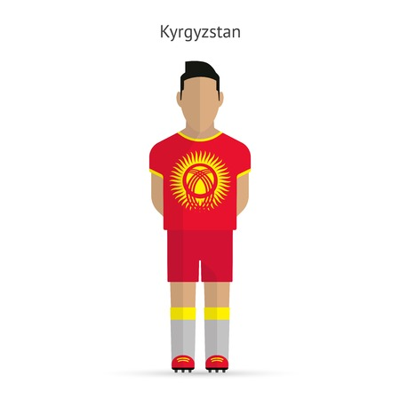 Kyrgyzstan football player. Soccer uniform. illustration. Vector