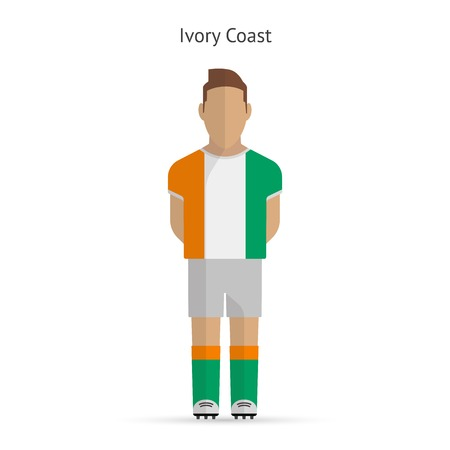Ivory Coast football player. Soccer uniform. illustration. Vector