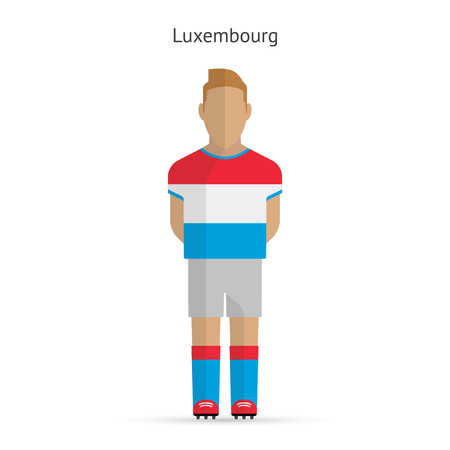 soccer uniform: Luxembourg football player. Soccer uniform. illustration.