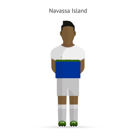 Navassa Island football player. Soccer uniform.  illustration. Vector