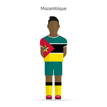 mozambique: Mozambique football player. Soccer uniform. illustration. Illustration
