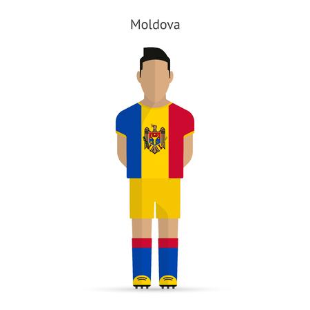 Moldova football player. Soccer uniform. illustration.