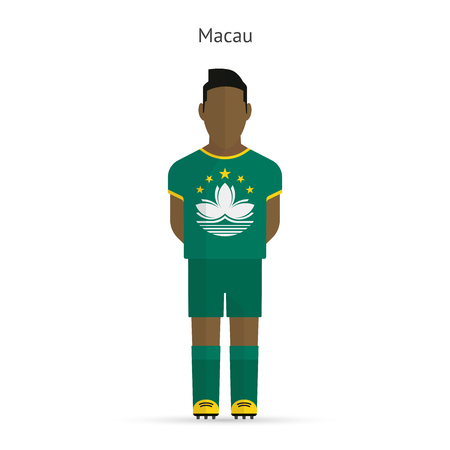 Macau football player. Soccer uniform. illustration. Vector