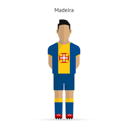 madeira: Madeira football player. Soccer uniform.  illustration. Illustration