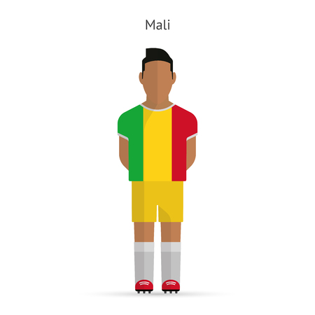Mali football player. Soccer uniform.illustration. Vector