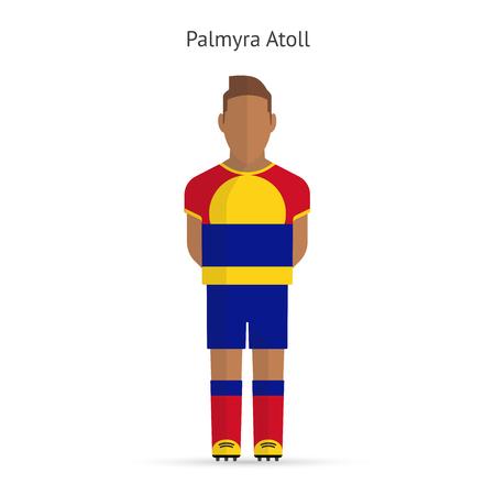 atoll: Palmyra Atoll football player. Soccer uniform. illustration. Illustration