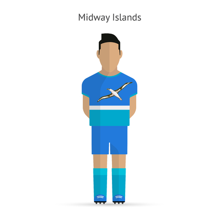 Midway Islands football player. Soccer uniform.  illustration. Vector