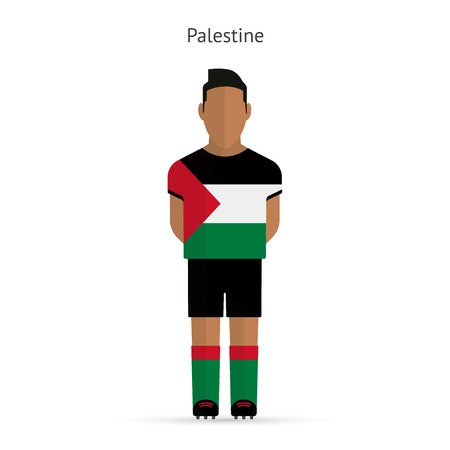 Palestine football player. Soccer uniform.  illustration. Vector
