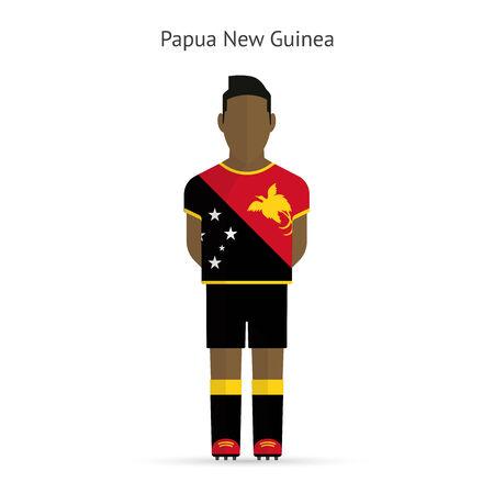 papouasie: Joueur de football Papouasie-Nouvelle-Guin�e. Football uniforme. illustration. Illustration