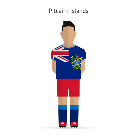 pitcairn: Pitcairn Islands football player. Soccer uniform.  illustration.