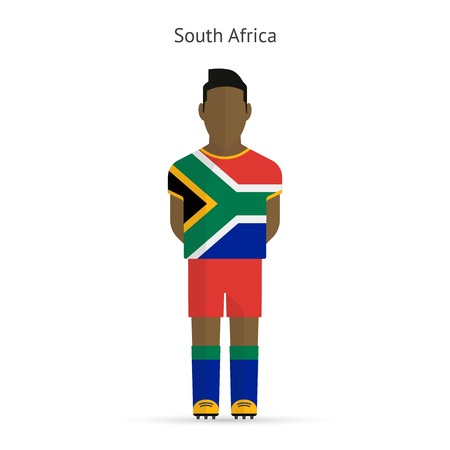 soccer uniform: South Africa football player. Soccer uniform. illustration. Illustration
