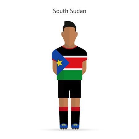 south sudan: South Sudan football player. Soccer uniform. illustration. Illustration