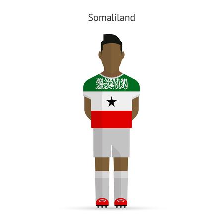 somaliland: Somaliland football player. Soccer uniform. illustration. Illustration