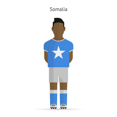 Somalia football player. Soccer uniform. illustration. Illustration