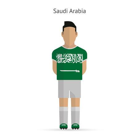 Saudi Arabia football player. Soccer uniform. illustration. Vector