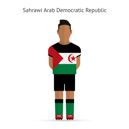 Sahrawi Arab Democratic Republic football player. Soccer uniform. illustration. Vector
