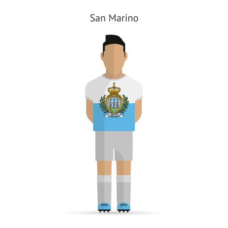marino: San Marino football player. Soccer uniform.illustration.
