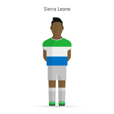 sierra: Sierra Leone football player. Soccer uniform. illustration.
