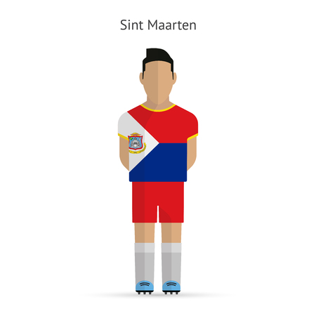 sint: Sint Maarten football player. Soccer uniform. illustration.