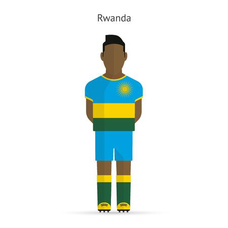rwanda: Rwanda football player. Soccer uniform.illustration. Illustration
