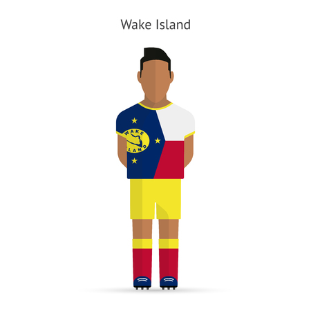 Wake Island football player. Soccer uniform. illustration. Vector