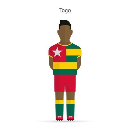 togo: Togo football player. Soccer uniform. illustration. Illustration