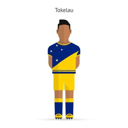 tokelau: Tokelau football player. Soccer uniform.illustration.
