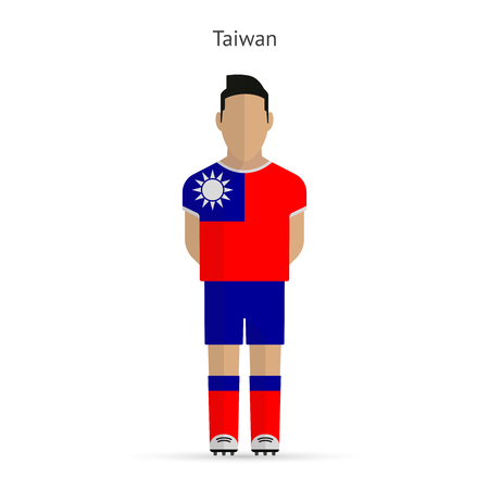 Joueur de football Taiwan. Football uniforme. illustration.