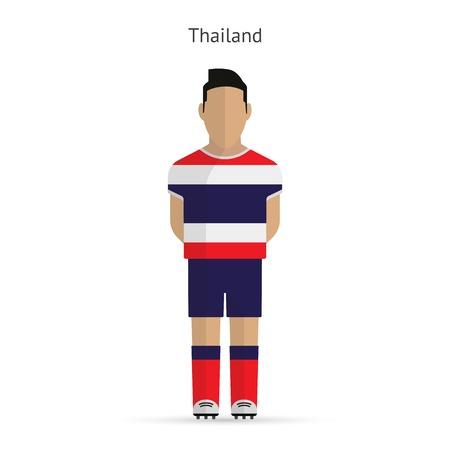 Thailand football player. Soccer uniform.  illustration. Vector