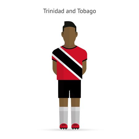 trinidad: Trinidad and Tobago football player. Soccer uniform. illustration.