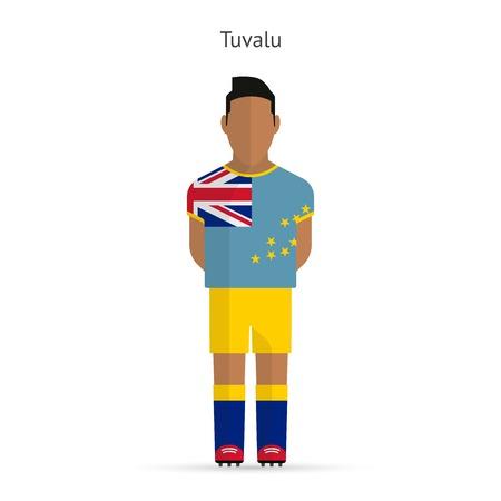 tuvalu: Tuvalu football player. Soccer uniform.  illustration. Illustration