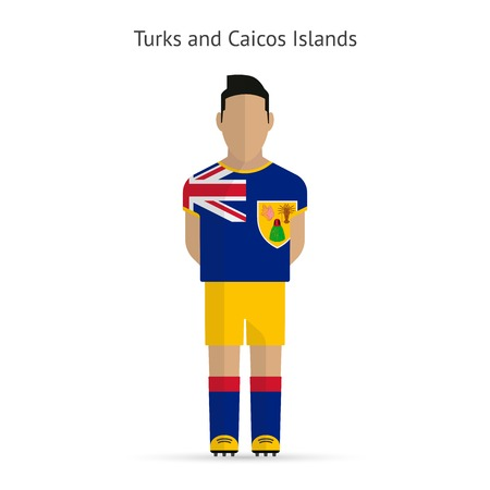 Turks and Caicos Islands football player. Soccer uniform.  illustration. Vector