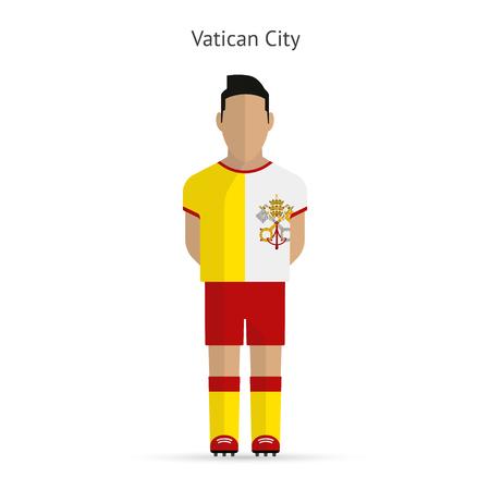 Vatican City football player. Soccer uniform. illustration.