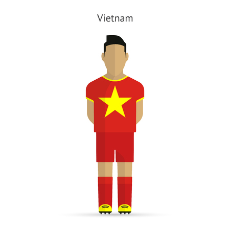 Vietnam football player. Soccer uniform. illustration. Vector