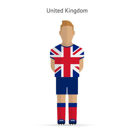 United Kingdom football player. Soccer uniform.  illustration. Vector