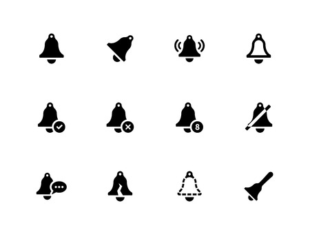Bell icons on white background. Vector illustration. Illustration