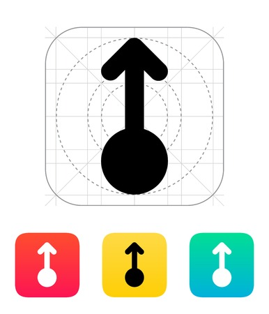 multi touch: Scroll up gesture abstract icon. Vector illustration.