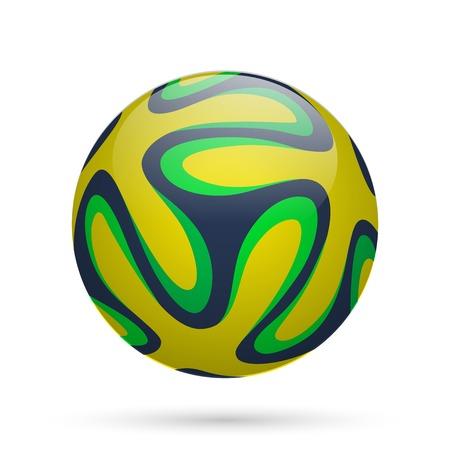 ブラジルのサッカー ボール。ベクトル イラスト。