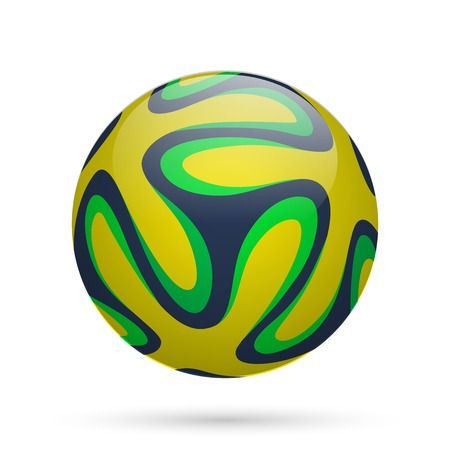 Brazilian soccer ball. Vector illustration.