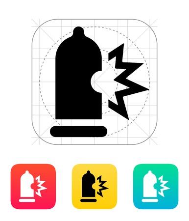spunk: Condom bursting icon