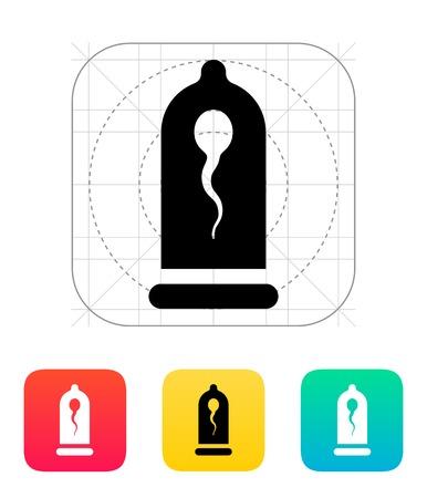 semen: Condom con l'icona Spermatozoid