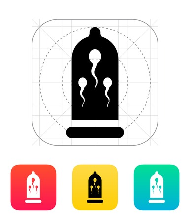 packaging aids: Sperm in Condom icon