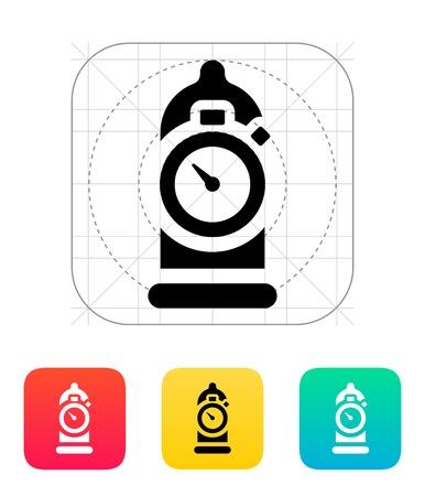 semen: Condom con l'icona del timer Vettoriali