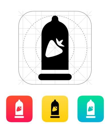 spunk: Preservativo con sabor a fresa icono