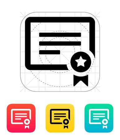 Certificate icon  Illusztráció
