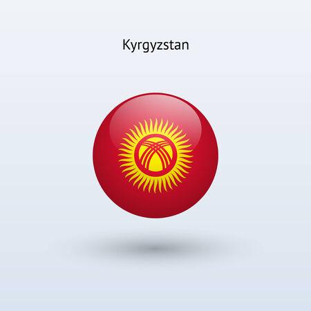 kyrgyzstan: Kyrgyzstan round flag  Vector illustration